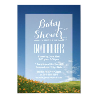 Daylily Field in the Mountain Baby Shower Invite