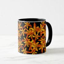 Daylily Garden Flowers Floral Pattern Mug