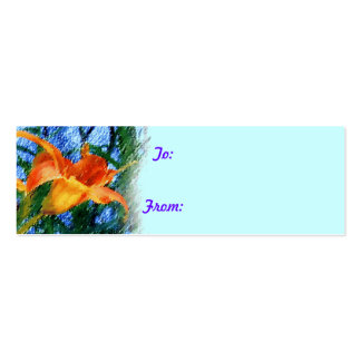 Daylily Gift Tag Business Cards