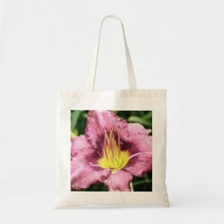 Daylily rosado rizado bolsa