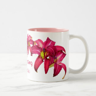 "Daylily ""Scattering Quarks"" Two-Tone Coffee Mug"