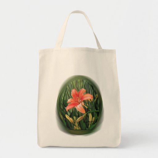 Daylily Tote Grocery Tote Bag