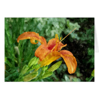 Daylily Watercolor Card
