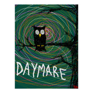 daymare spooky owl posters