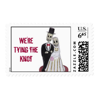 DayoftheDead, Tying the Knot Postage Stamp