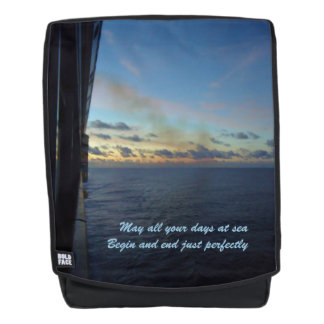 Days at Sea Cruise Quote Backpack