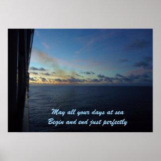 Days at Sea Custom Travel Poster