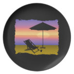 Days End at the Beach Dinner Plates