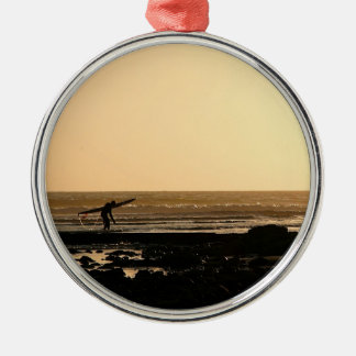 Days End Surfing Christmas Tree Ornaments