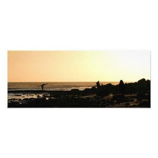 Days End Surfing Art Photo