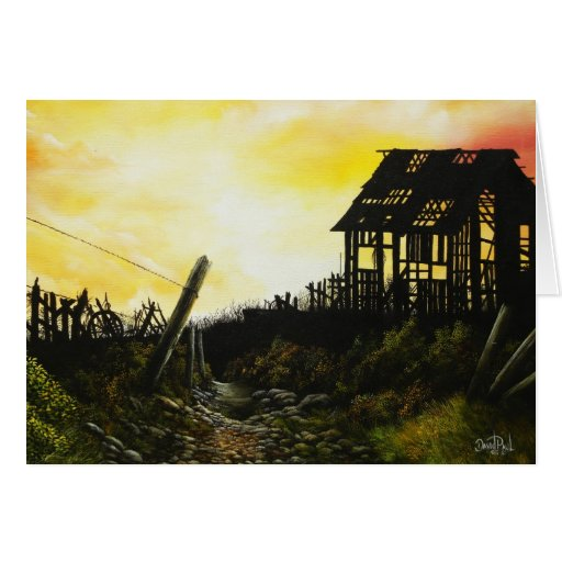 Days Gone By~ Greeting Card