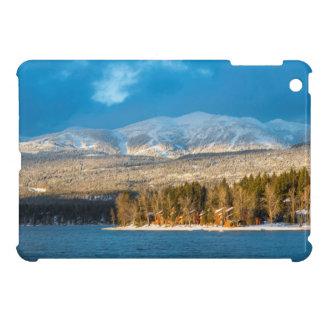 Days Last Light Shines On Ski Runs Of Whitefish Cover For The iPad Mini