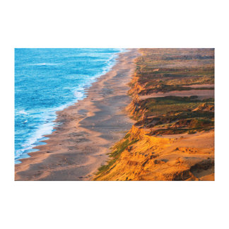 Days Last Light Strikes The Sandy Shore Of Point Canvas Print