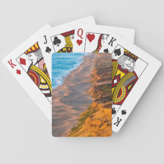 Days Last Light Strikes The Sandy Shore Of Point Playing Cards
