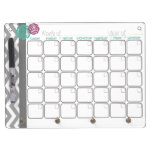 Days. More Organized.  Monthly Dry Erase Calendar Dry Erase Board With Keychain Holder