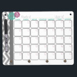 """Days. More Organized.  Monthly Dry Erase Calendar Dry Erase Board With Keychain Holder<br><div class=""""desc"""">This monthly dry erase calendar matches my printable collection,  Home. More Organized.,  on my Etsy shop. Perfect to keep track of your busy life. Please visit my Etsy store at: https://www.etsy.com/shop/lifemoreorganized</div>"""