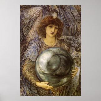 Days of Creation 1st Day Burne Jones Vintage Art Poster