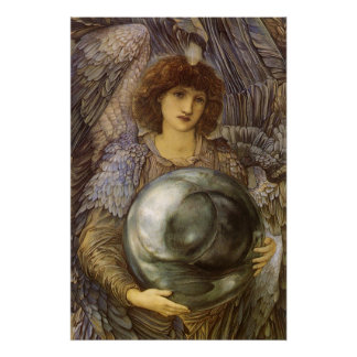 Days of Creation, First Day by Burne Jones Poster