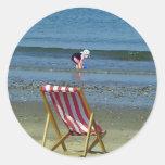 Days of summer round sticker