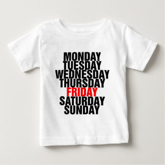 Days of the Week Baby T-Shirt