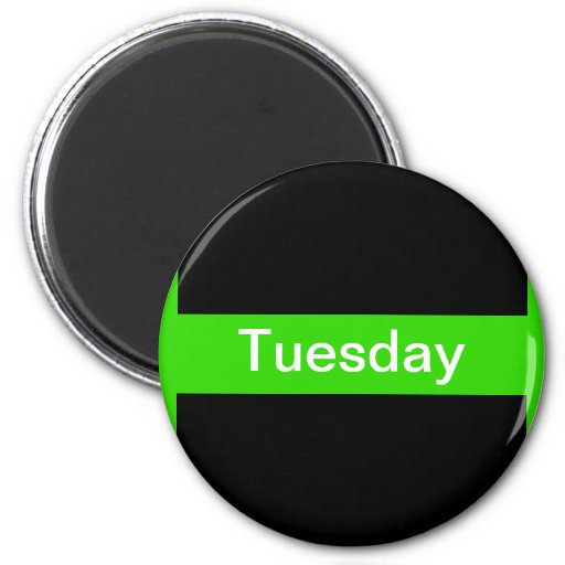 Days of the Week Color Coded Calendar Visual Tools 2 Inch Round Magnet