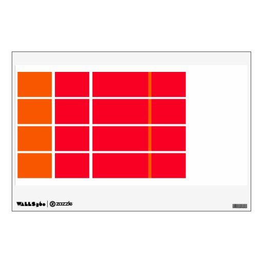 Days of the Week Color Coded Calendar Visual Tools Room Graphics
