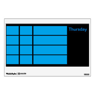 Days of the Week Color Coded Calendar Visual Tools Room Sticker