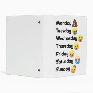Days of the Week Emoji Binder
