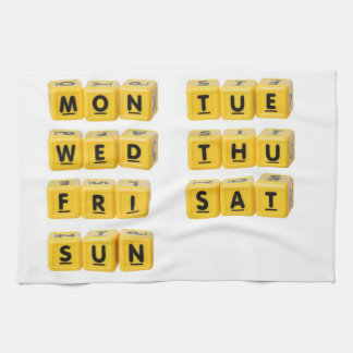 Days of the week hand towels