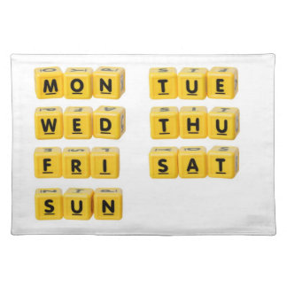 Days of the week placemat