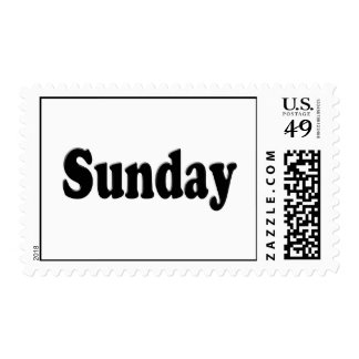 Days of the Week -  Sunday Postage Stamps