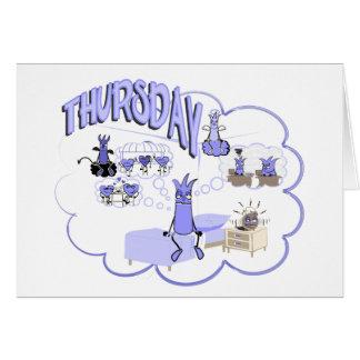 Days of the Week - Thursday again - card