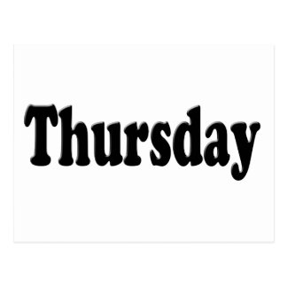 Days of the Week -  Thursday Postcard