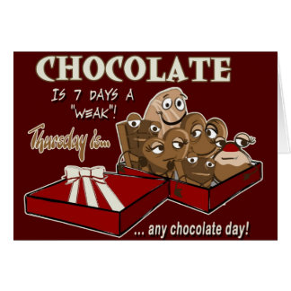 Days of the Week - Thursday's chocolate Card