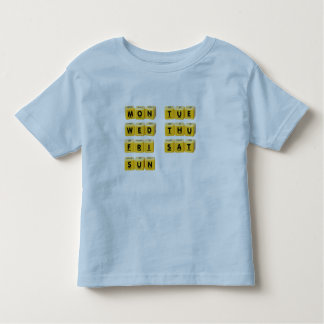 Days of the week toddler t-shirt