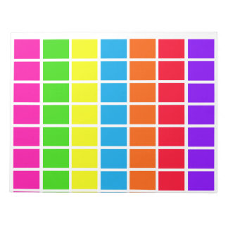 Days of Week Color Coded Calendar Tools Notepads
