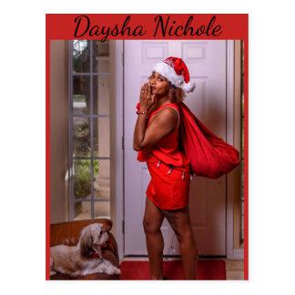 Daysha Nichole, Miss Santa, postcard