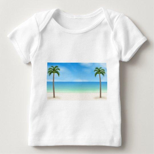 Daytime Beach Scene: Baby T-Shirt