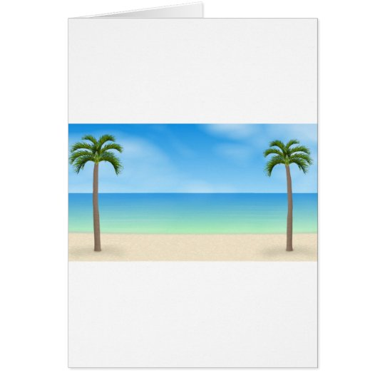 Daytime Beach Scene: Card