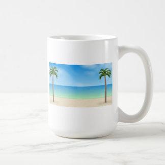 Daytime Beach Scene: Coffee Mug