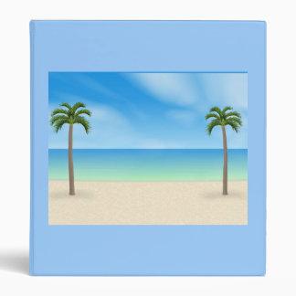 Daytime Beach Scene: Custom Binder