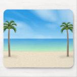 Daytime Beach Scene: Custom Mousepad