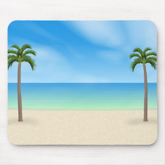 Daytime Beach Scene: Custom Mousepad