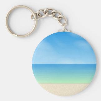 Daytime Beach Scene: Keychain
