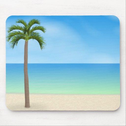 Daytime Beach Scene: Mouse Pad