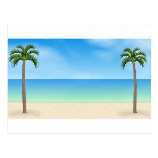 Daytime Beach Scene: Postcard