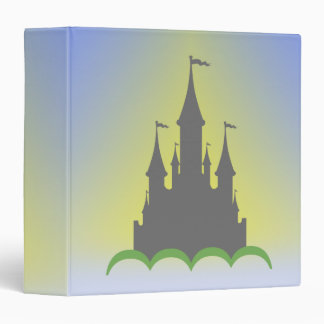 Daytime Dreamy Castle In The Hills Sunny Sky 3 Ring Binder