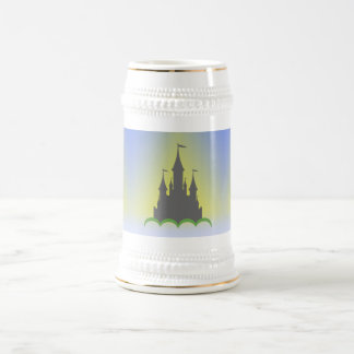 Daytime Dreamy Castle In The Hills Sunny Sky Beer Stein