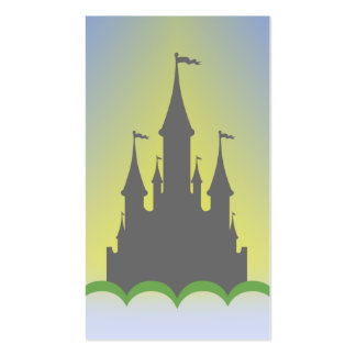 Daytime Dreamy Castle In The Hills Sunny Sky Business Cards