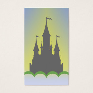 Daytime Dreamy Castle In The Hills Sunny Sky Business Card